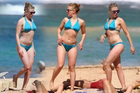 Scarlett Johansson beach body