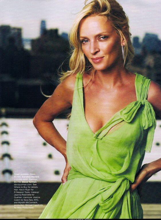 Uma Thurman, Height, Weight, Bra Size, Age, Measurements