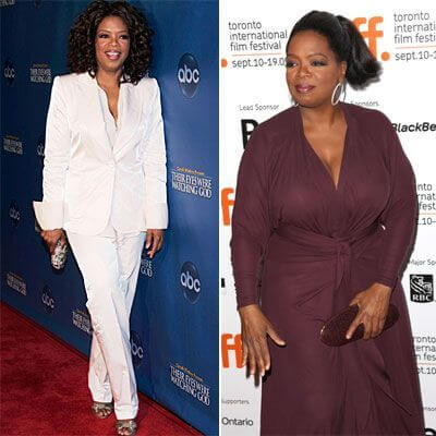 Oprah Weight gain and loss