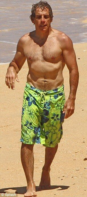 Ben Stiller beach body