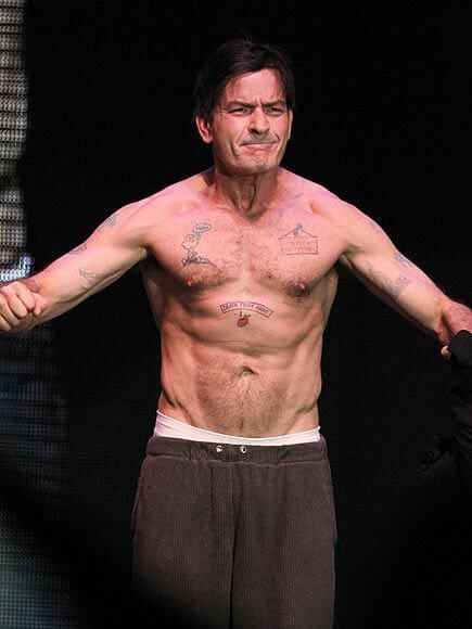 Charlie Sheen, Height, Weight, Body Fat Percentage