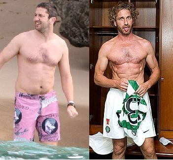Gerard Butler weight loss and gain