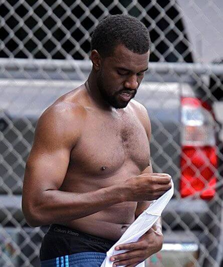 Kanye West Shirtless