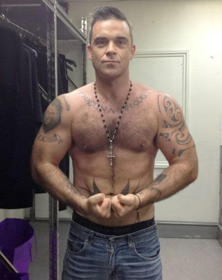 Robbie Williams, Height, Weight