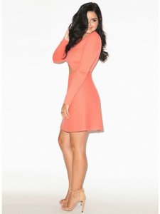Ariel Winter looking stunning and super elegant in a salmon dress
