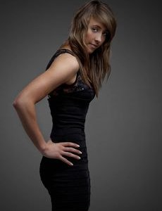 Jade Jones body looking amazing in a tight black dress