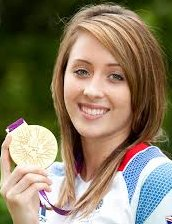 Jade Jones smiling with a gold medal