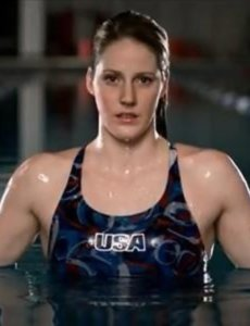 Amazing Missy Franklin photo in a pool with her USA swimming suit