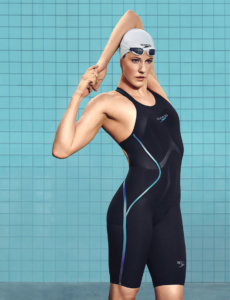 Missy Franklin in a swimming suit where is possible to check her height