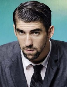 Michael Phelps elegant in a suit