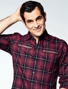 Ty Burrell elegant with a square shirt