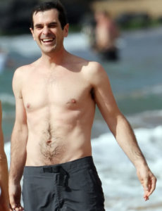 Ty Burrell great smile in the beach